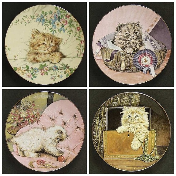 Royal Worcester Crown Ware, Kitten Classics Plate Collection